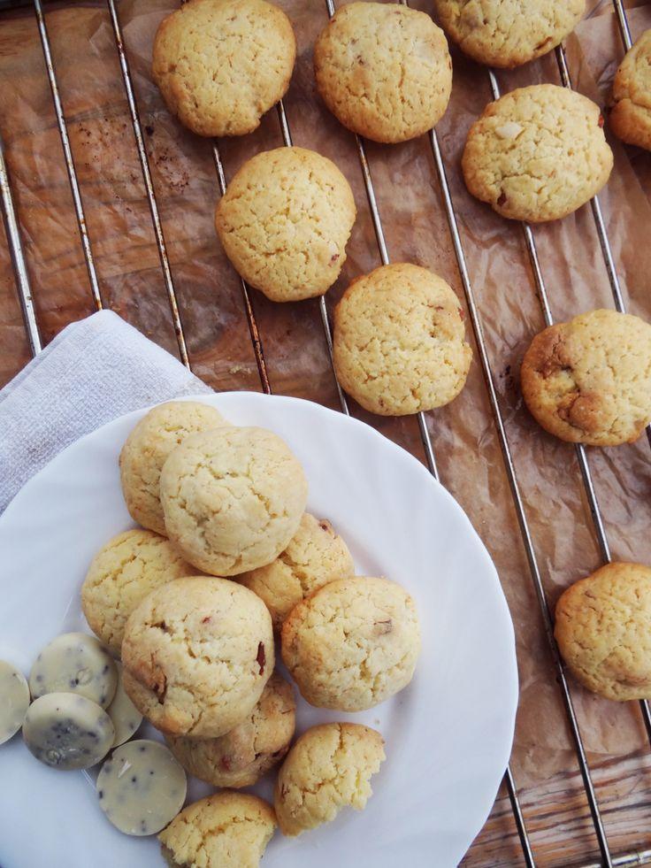 Ореховое печенье с белым шоколадом