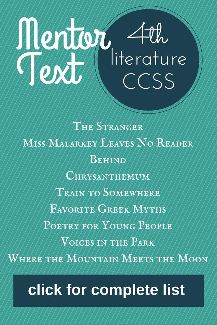 LOVE!! Mentor text for teaching 4th grade CCSS!! #mentortext