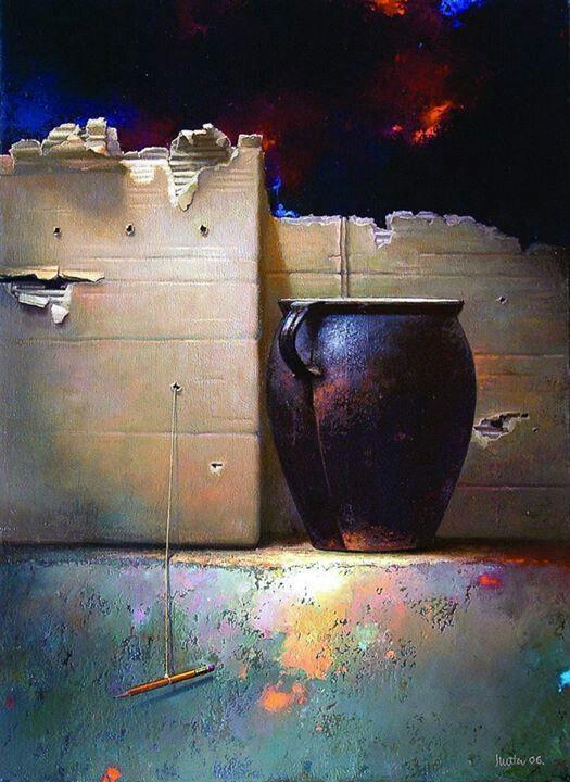 Painting by Edward Szutter.