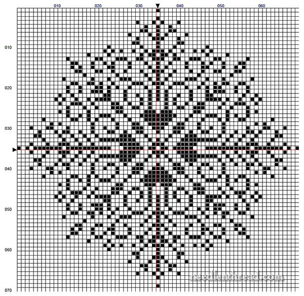 Large Snowflake Cross Stitch Pattern