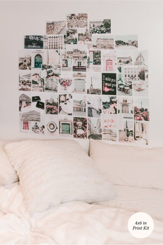 Paris Print Kit Set Of 50 Collage Wall Art Gallery Wall Prints
