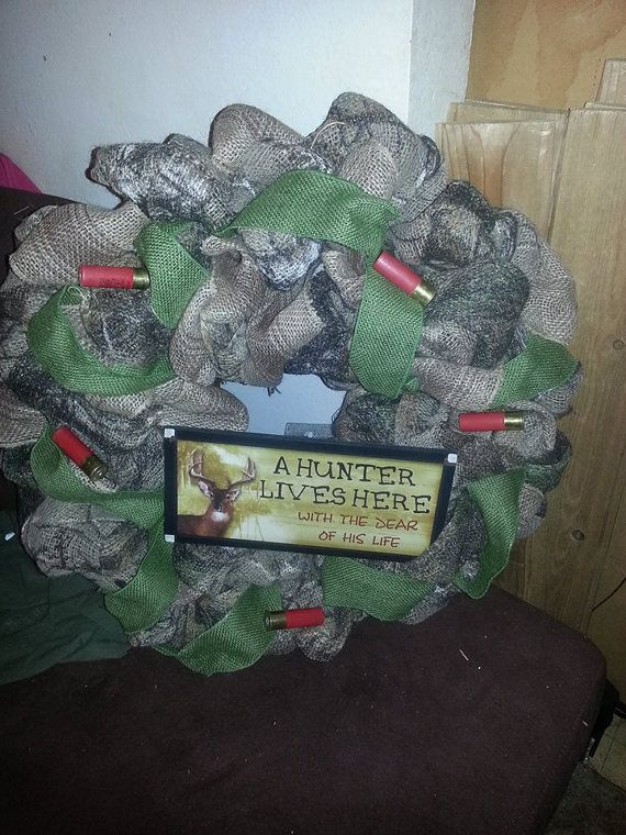 Camo burlap wreath by SouthernSpecialities on Etsy, $95.00