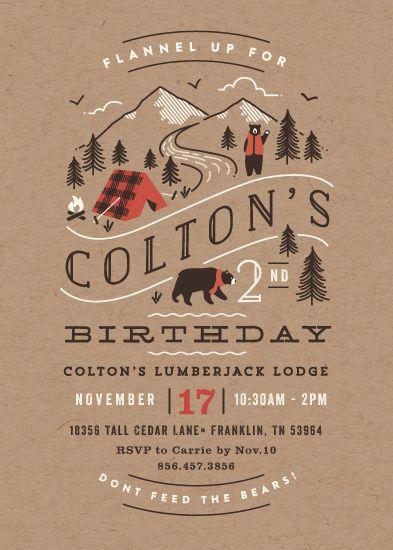 birthday party invitations - Lumber Bears by Jennifer Wick
