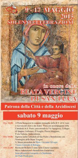 9 maggio al 17 maggio scende la B.V. di San Luca a #Bologna