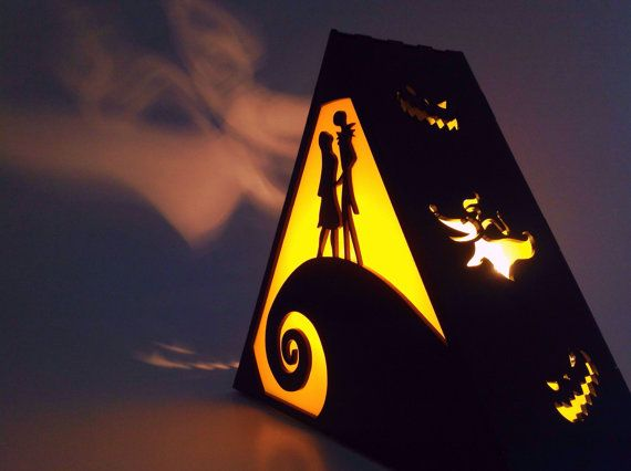 Nightmare Before Christmas Lamp by Plasmatorium on Etsy