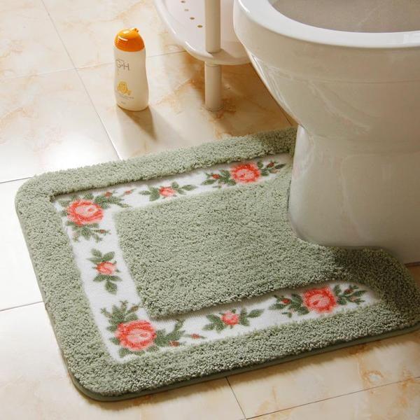Shower Pad Mat Toilet Rug Set Contour Rug Bathroom Contour Rugs