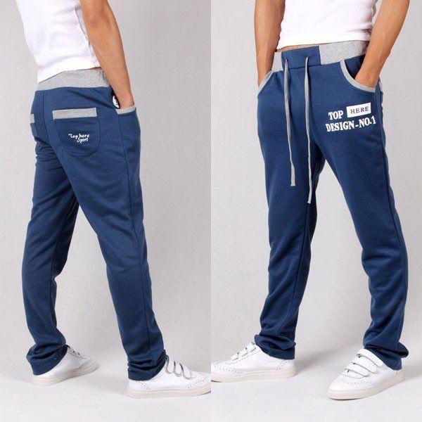 Men S Drawstring Elastic Waist Design Cotton Lining Track Jogger Pants Schnittmuster Hose Schnittmuster Hosen