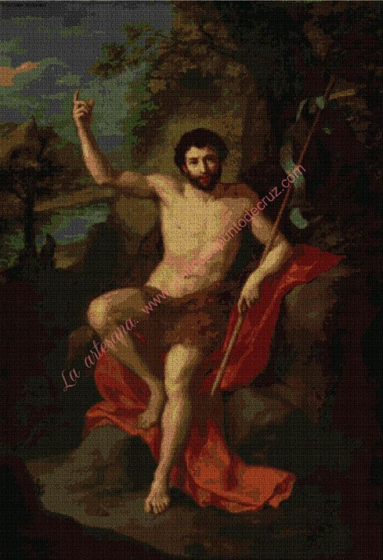 Juan bautista predicando en el desierto, Anton Raphael Mengs 54 x 80 cm