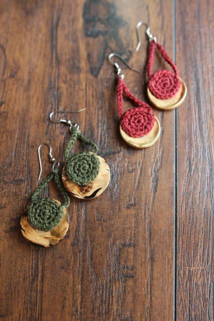 627 best knit crochet bags jewelry images on pinterest bag crocheted button earrings free crochet pattern by mamachee bankloansurffo Images