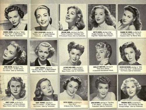 Fifteen fantastic vintage celebrity hairstyles. #vintage #hair #1940s