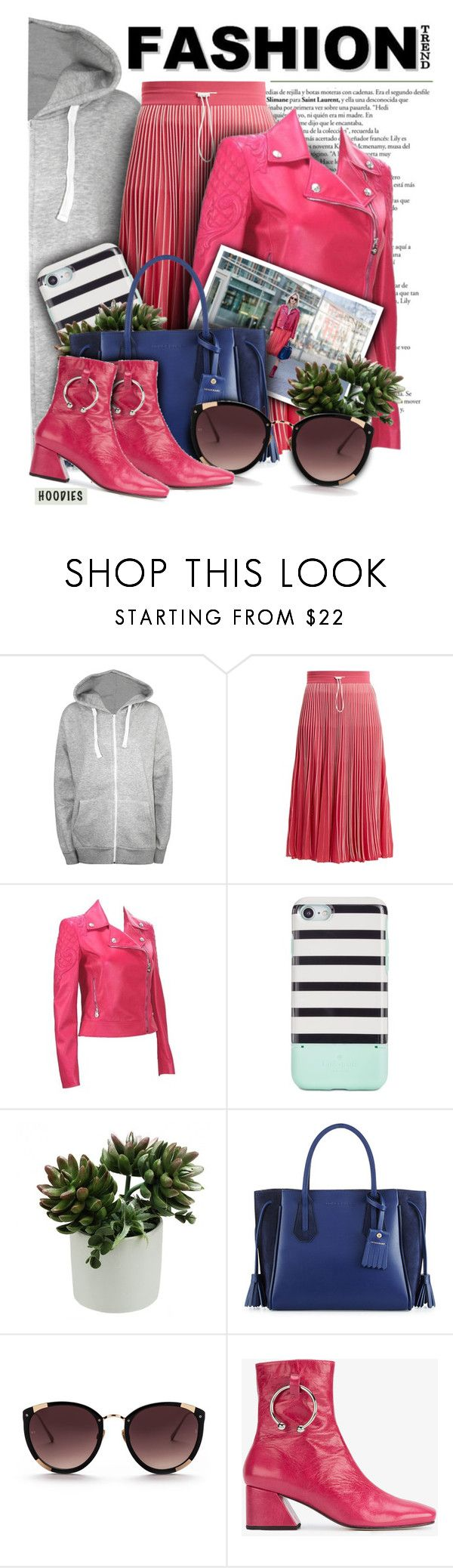 """""""The """"Hoodie"""" Fashion Trend"""" by angiesprad ❤ liked on Polyvore featuring WearAll, Valentino, Versace, Kate Spade, Longchamp, Rebecca Taylor, Dorateymur and plus size clothing"""