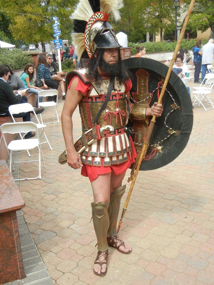 Dioskouri reenactor  of Lacedaemonian Hoplite Warrior