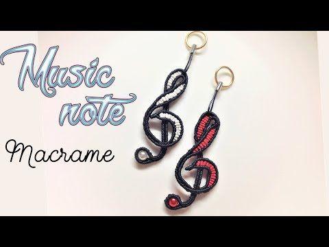 How to make macrame music note for key chain – Hướng dẫn thắt nốt nhạ…