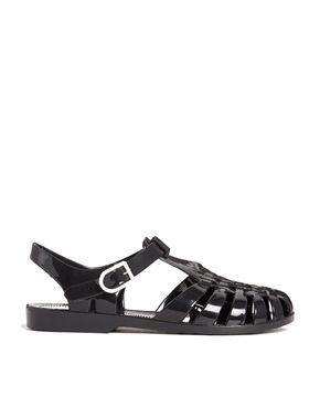 Truffle Jelly Flat Sandals