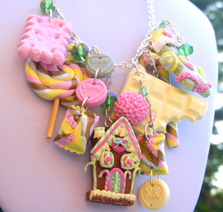 Christmas Gingerbread Necklace, Polymer Clay Food Christmas Necklace, Christmas Jewellery, Kawaii Necklace, Miniature Food. £54.00, via Etsy.