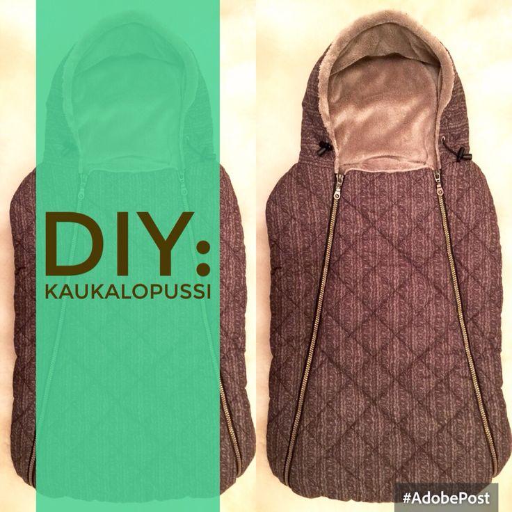 Kaukalopussi DIY / Car seat cover for baby DIY