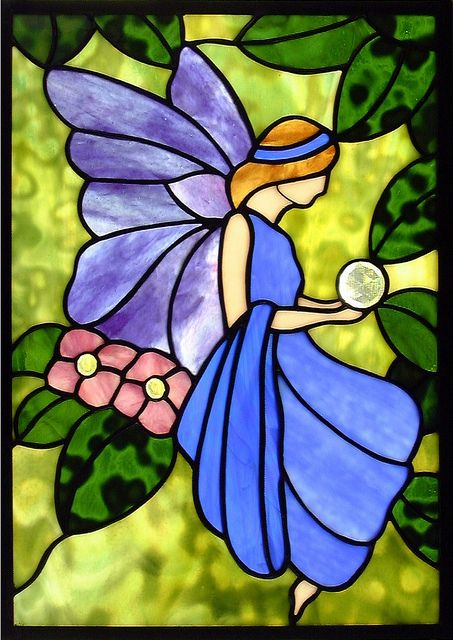Whimsical Fairy (part one) Stained Glass Window, via Flickr.