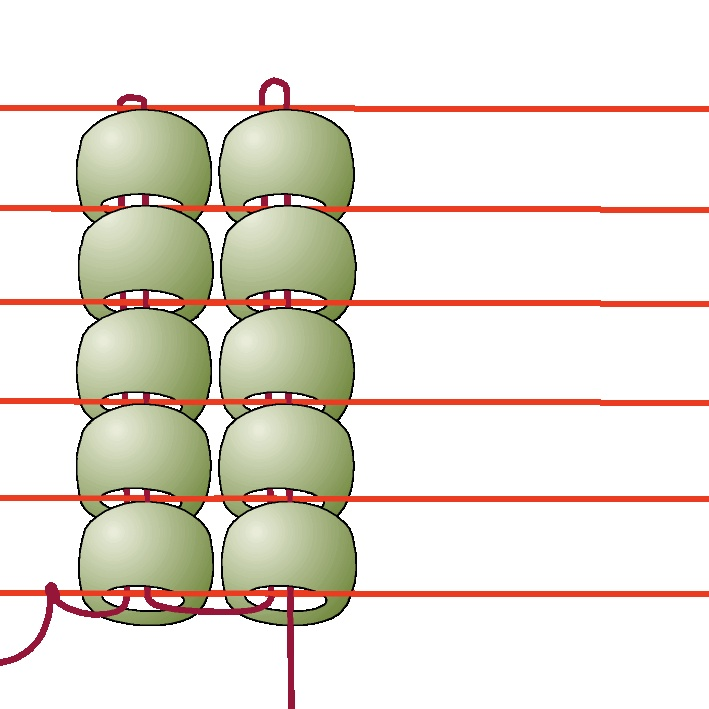 Loom beading: how to start, add new thread, and finish off. Amazing resource for working with a bead loom.