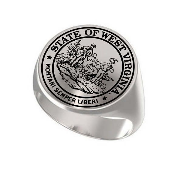 Signet Ring Mens Ring Personalized Ring Great Seal State