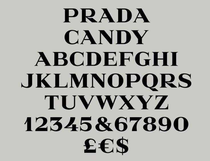 Prada Candy Typeface by Gareth Hague | Alias | typetoken®️️