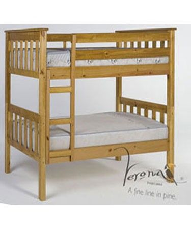 Verona Designs Junior 3ft Barcelona Shorty Pine Bunk Bed A classic bunk bed design with a space-saving twist brought to you by Verona the Barcelona Shorty Bunk Bed with its traditional clean lines is ideal for two children sharing a room.The solid pine cons http://www.comparestoreprices.co.uk/bunk-beds/verona-designs-junior-3ft-barcelona-shorty-pine-bunk-bed.asp