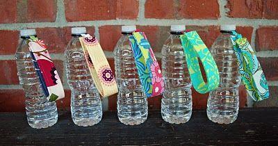 Water bottle fobs.. looks pretty easy!