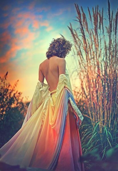 Фото девушка в красивом платье