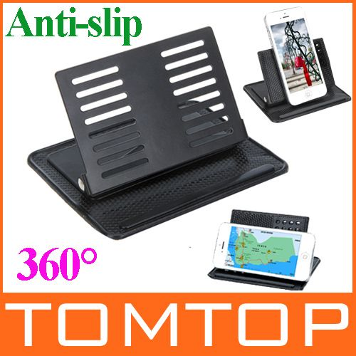 Universal 360 Degree Rotatable Magic Mount Car GPS Navigator Bracket Anti-slip Mat Mobile Phone Holder Drop Shipping $5.43