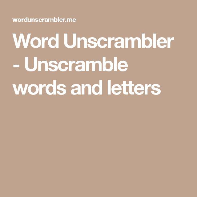 Thesis unscramble