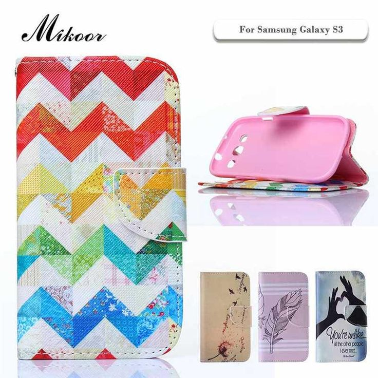Mikoor Fashion Pattern PU Leather 4.8For Samsung Galaxy S3 Case For Samsung Galaxy S3 I9300 Cell Phone Case Cover M01