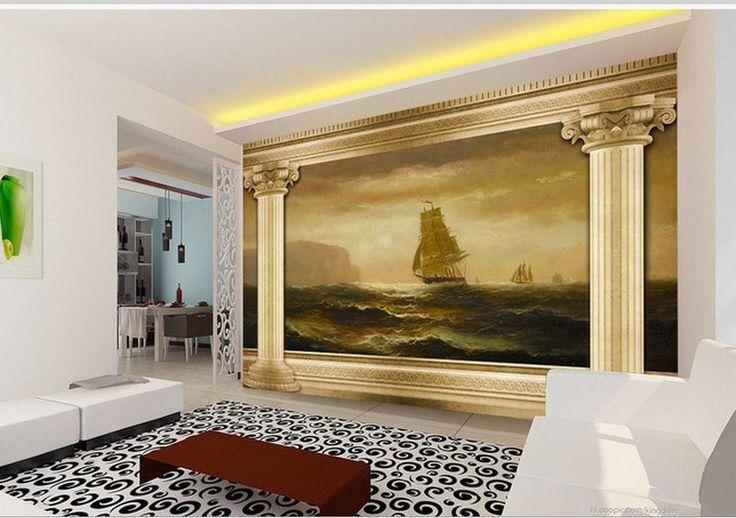 16.20$  Watch now - http://alicvw.shopchina.info/go.php?t=32799855762 - 3d nature wallpapers photo 3d wallpaper Landscape painting Roman column 3D TV background wall photo 3d wallpaper  #aliexpresschina