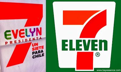 The presidential campaign began in Chile. One of them must really like 7 ELEVEN!