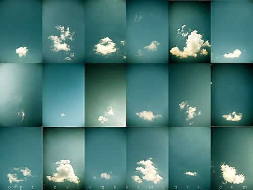 Photography Typology of clouds by Laura Jude Hathaway.