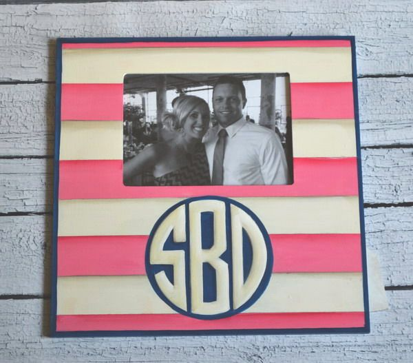 Preppy Hand Painted Monogrammed Picture Frames - this website has the cutest stuff!