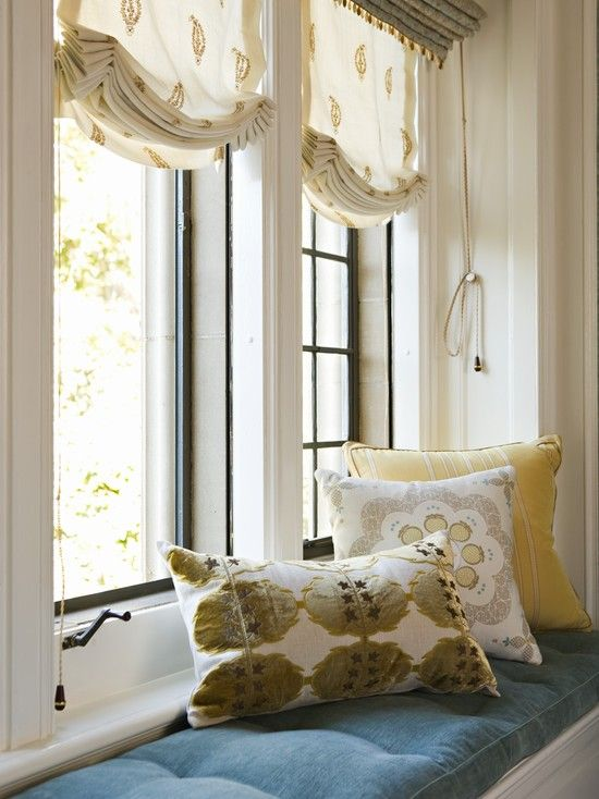 Relaxed Roman Shades Design Ideas, Pictures, Remodel, and Decor
