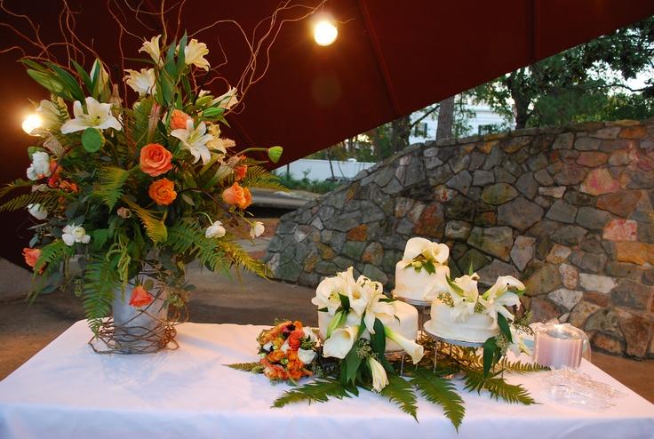 .: Cake, Plans, Flower, Palms Frond, November Wedding