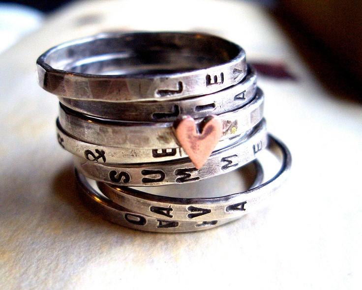 custom rings $94.00, via Etsy.