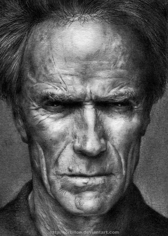 pencil drawings | pencil drawing clint eastwood Pencil Drawings Have Never Been More ...