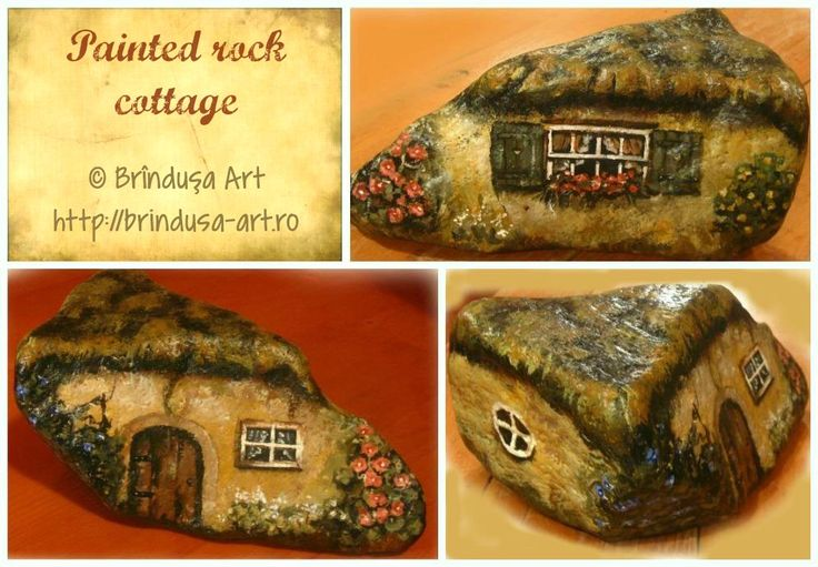Cottages – with wood & rock & flowers, all creating a warm, rustic atmosphere, the feeling of a simpler, quieter life. Rock I've turned into a cottage, painted in acrylics. Căsuţele – cu lemn şi piatră şi flori; o atmosferă, caldă, rustică, aerul unei vieţi mai simple, mai liniştite. O piatră pe care am transformat-o într-o căsuţă pictată în culori acrilice. #cottage #country #rustic #painting #rock #piatra #rockpainting #piatrapictata #rocks #rockart #acrylics #acrilice #handmade…