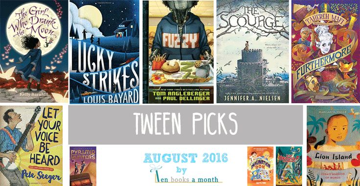 This list of ten best new tween books for August 2016 includes the latest from the NYT bestselling author of the Origami Yoda series, two new books from bestselling teen authors, and a critically acclaimed fantasy full of adventure.