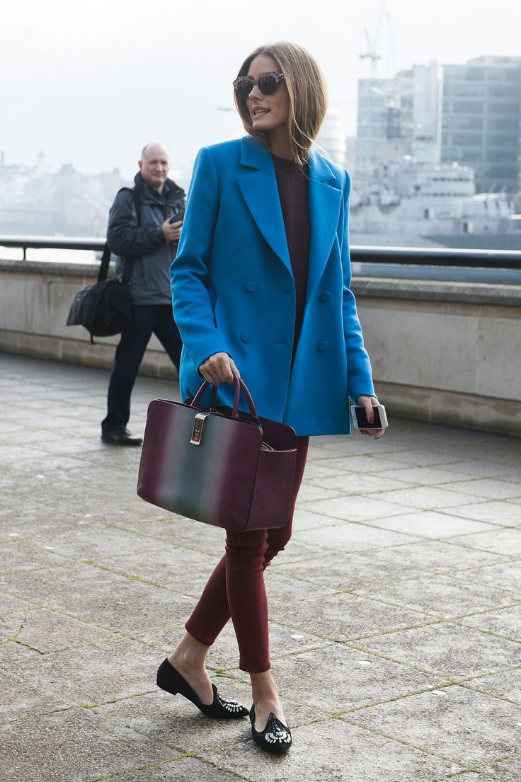 Olivia Palermo just gave us our new favorite color combo. London Fashion Week Fall 2014 Street Style #LFW