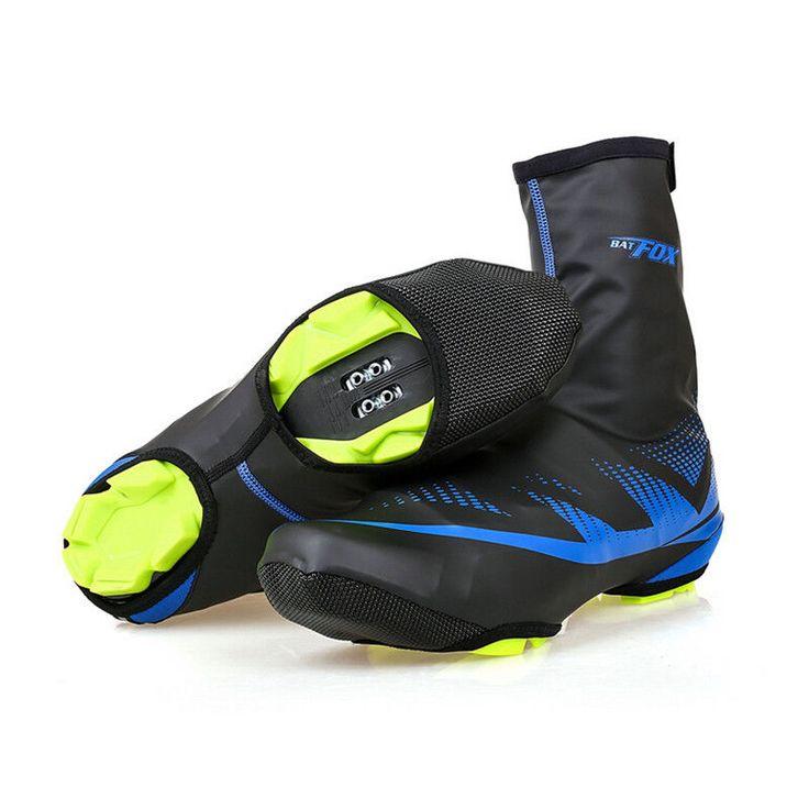 Waterproof Shoe Covers Cycling Lock Winter Fleece Thermal Windproof Overshoes #Unbranded
