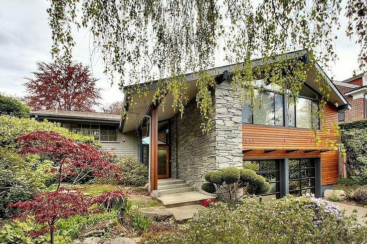 nowoczesny dom kamień i drewno