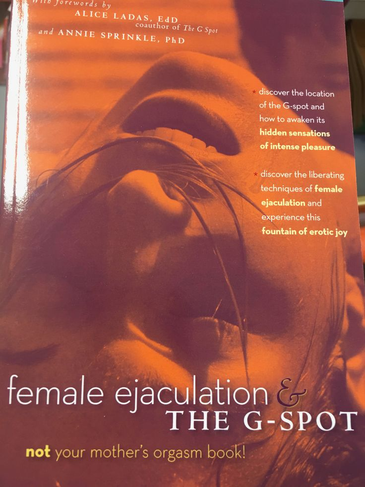 """Not your mother's orgasm book!""   Except, I think this literally was my mom's orgasm book.   http://www.comeasyouare.com/product/Female-Ejaculation-and-The-G-Spot/"