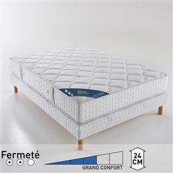 Matelas à ressorts ensachés grand confort ferme 5 zones, haut. 24 cm