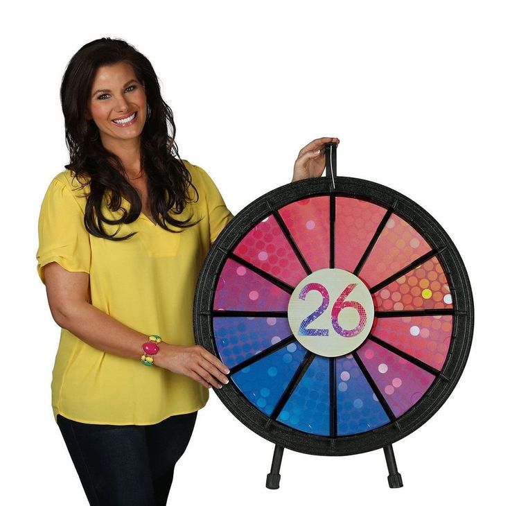 """40"""" Diameter Coutner Top or Floor Prize Spin Wheel 15 to 30 Slot"""