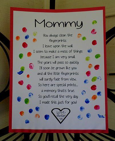 Mother's Day Fingerprint Poem