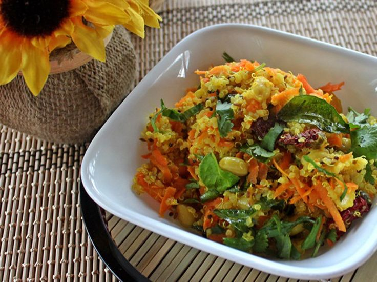 This quinoa version of the South Indian recipe for lime rice is a vegan, one dish meal that's nutritious with gentle fresh flavors.