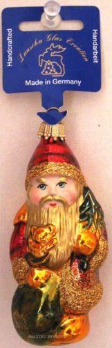 Handcrafted Glass Santa Christmas Ornament Lauscha Glas Creation Germany