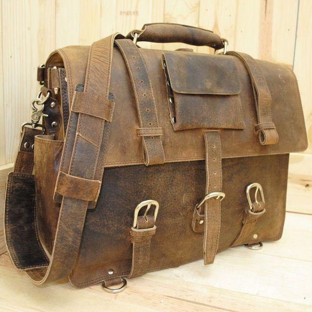 Rústico vintage maletín mochila de cuero bolso portatil-en Maletines de Bolsos de Viaje, Maletas en m.spanish.alibaba.com.